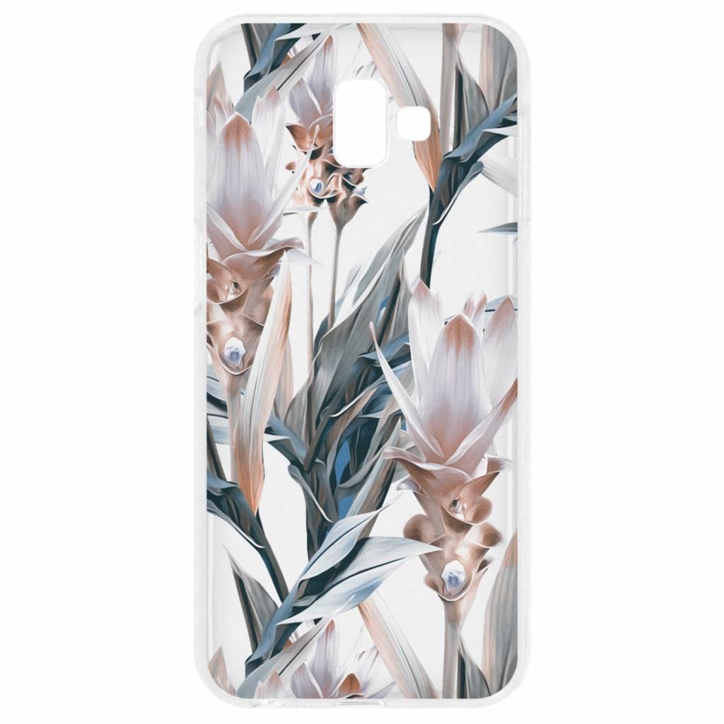 Bloemen design siliconen hoesje voor de Samsung Galaxy J6 Plus