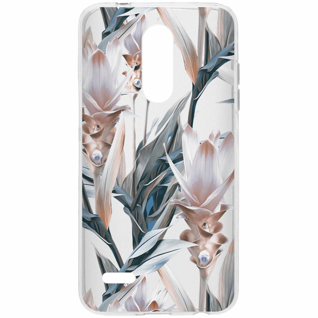 Design Backcover voor LG K11 - Delicate Pastel Bloemen