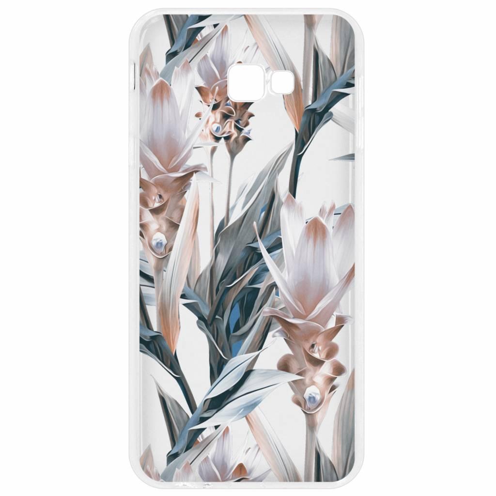 Bloemen design siliconen hoesje voor de Samsung Galaxy J4 Plus