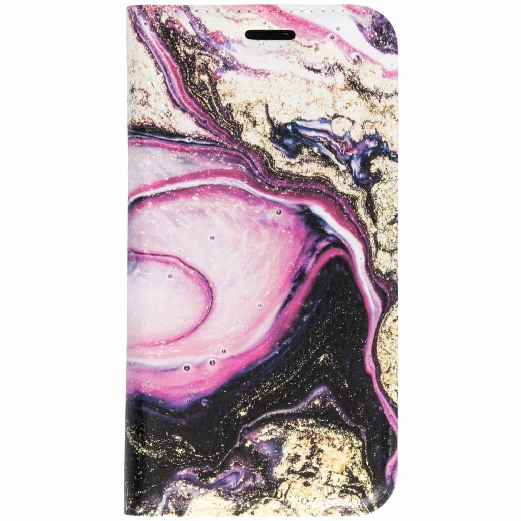 Roze Lava Design TPU Bookcase voor de Samsung Galaxy S7