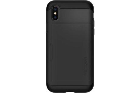 Spigen Slim Armor CS Backcover voor iPhone X / Xs - Zwart