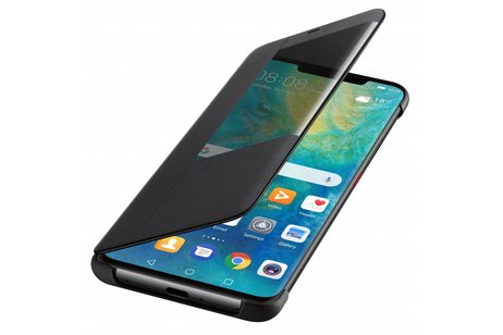 Huawei Smart View Flip Case voor Huawei Mate 20 Pro - Zwart