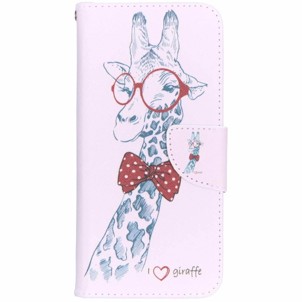 Giraffe design TPU booktype hoes voor de Huawei Mate 20 Lite