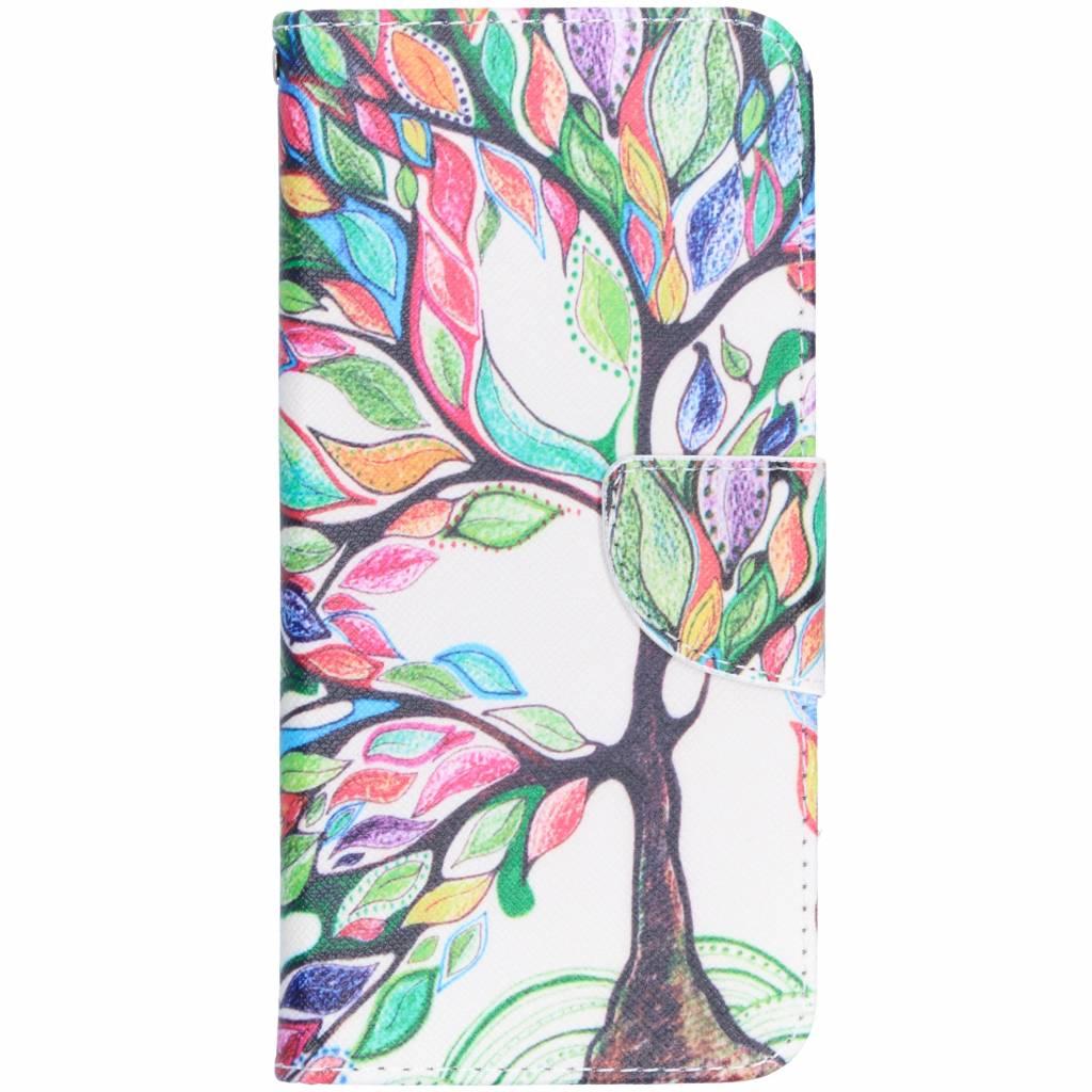 Tree design TPU booktype hoes voor de Huawei Mate 20 Lite