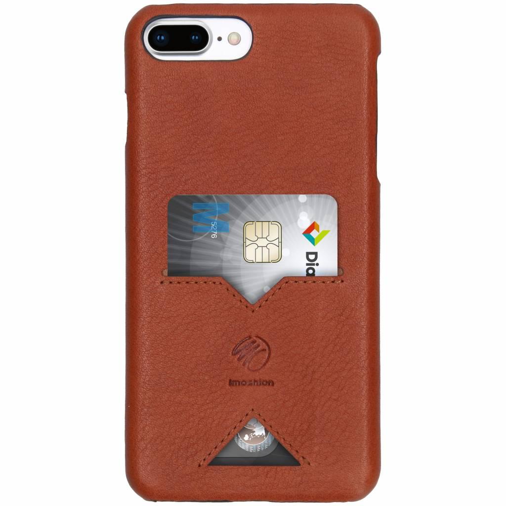 iMoshion Bruine Leather Back Cover Card Slot voor de iPhone 8 Plus / 7 Plus