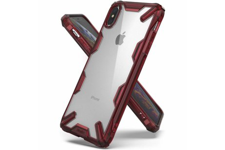 Ringke Fusion X Backcover voor iPhone Xs Max - Rood