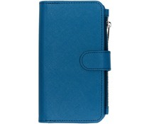 Selencia Blauw Saffiano 9 slots portemonnee hoes iPhone Xr