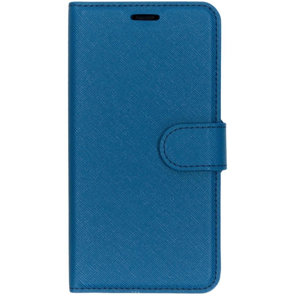 Selencia Blauwe saffiano booktype hoes voor de iPhone Xr