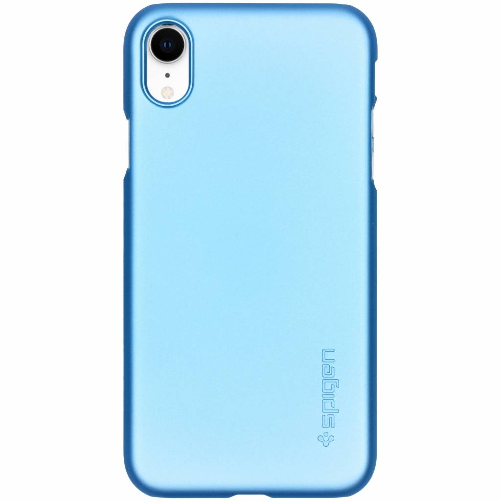 Spigen Thin Fit Backcover voor iPhone Xr - Blauw