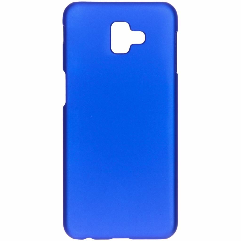 Effen Backcover voor Samsung Galaxy J6 Plus - Blauw