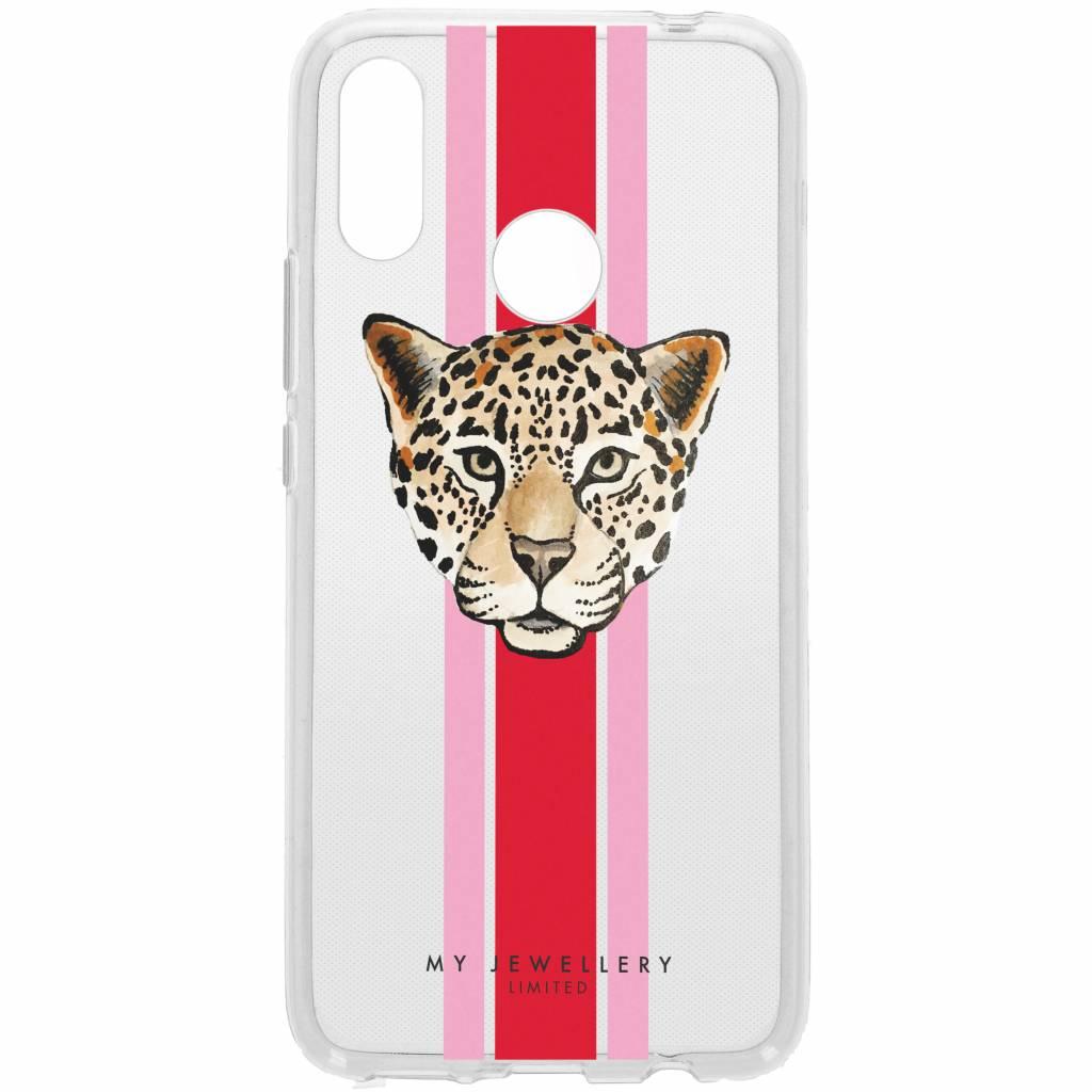 My Jewellery Design Backcover voor Huawei P Smart Plus - Leopard Rood