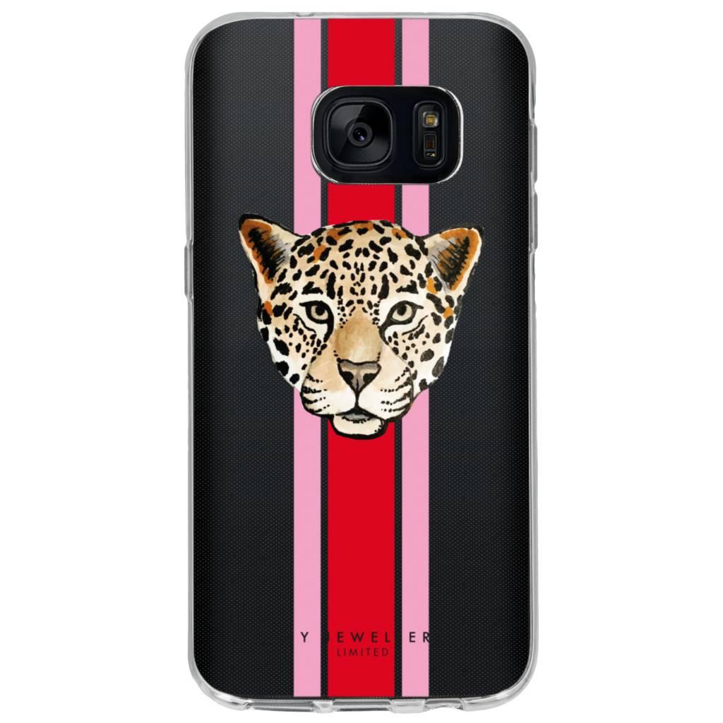 My Jewellery Design Backcover voor Samsung Galaxy S7 - Leopard Rood