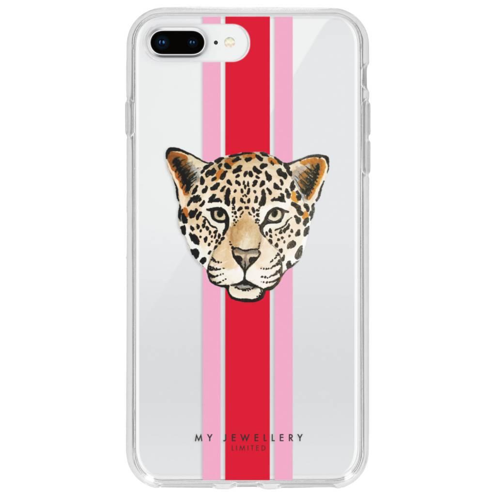 My Jewellery Leopard Red Design Soft Case voor de iPhone 8 Plus / 7 Plus
