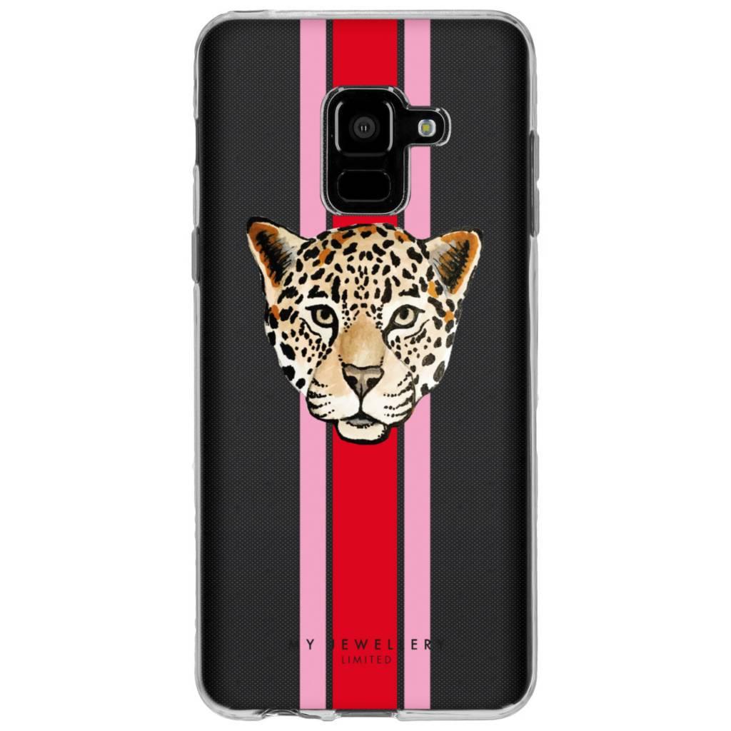 My Jewellery Leopard Red Design Soft Case voor de Samsung Galaxy A8 (2018)
