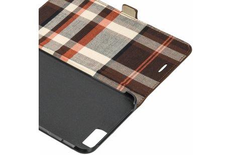 iMoshion Suède Booktype voor iPhone 6(s) Plus - Bruin