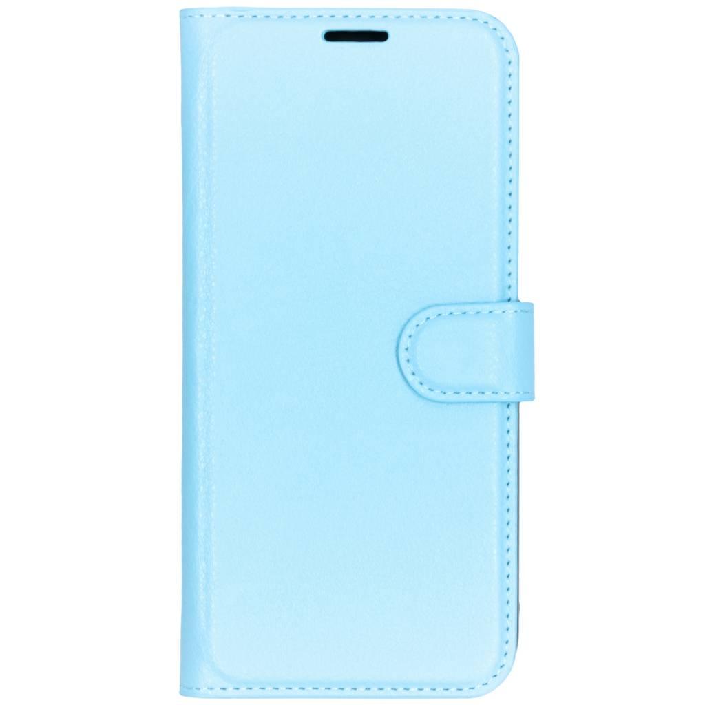 Blauwe litchi booktype hoes voor de Xiaomi Redmi Note 6 Pro