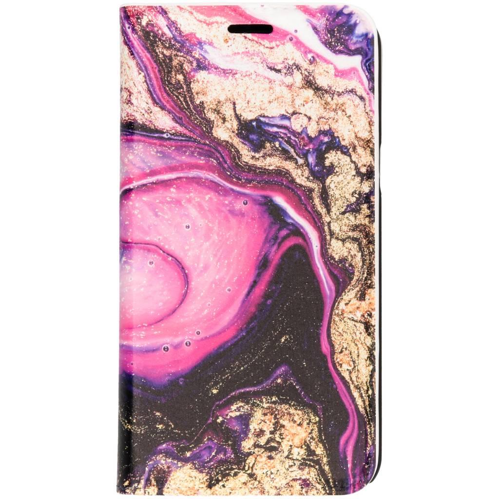 Roze Lava Design Booklet voor de Samsung Galaxy J3 / J3 (2016)