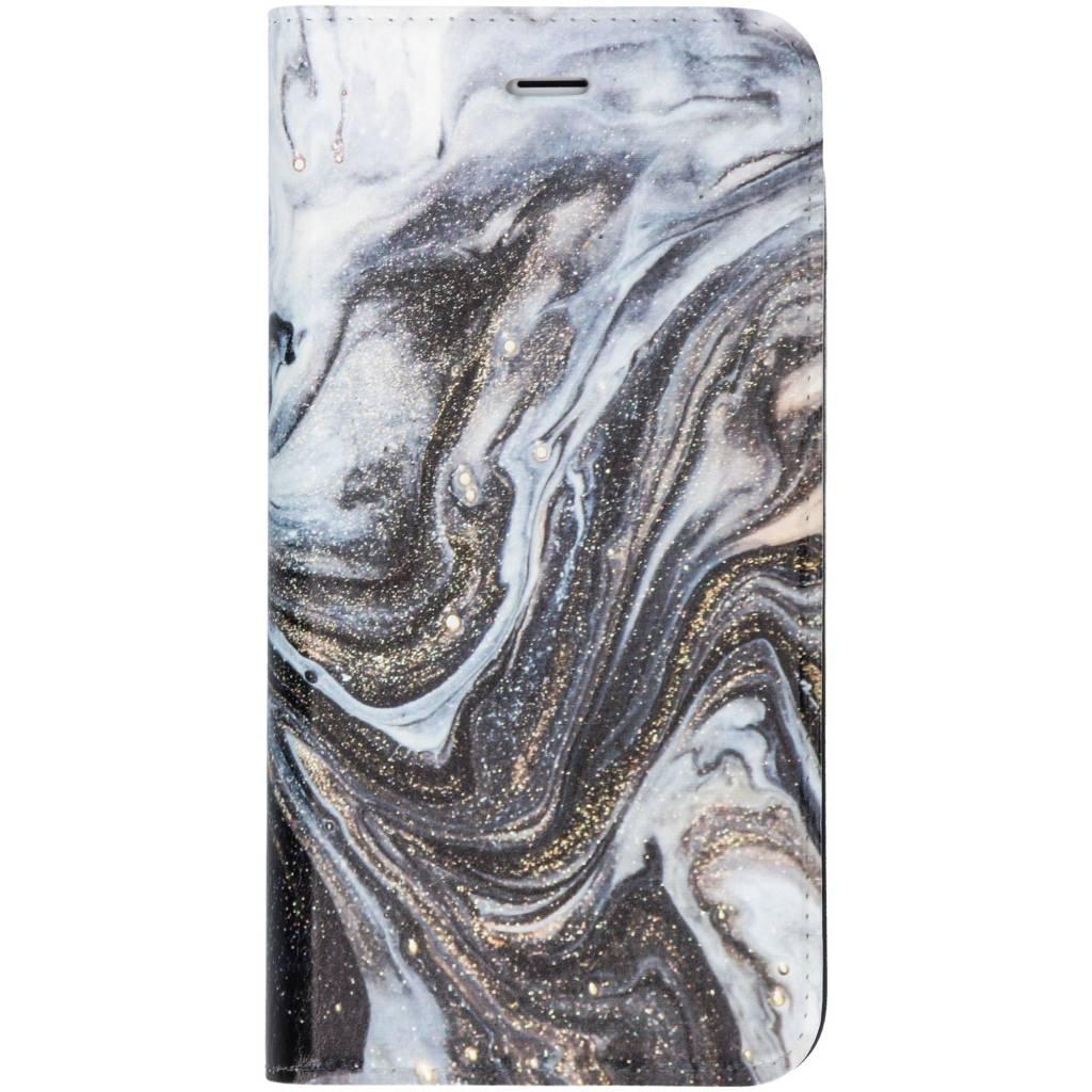 Zwart Lava Design Booklet voor de iPhone 8 Plus / 7 Plus