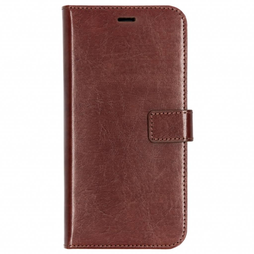 Valenta Bruine Booklet Leather voor de Samsung Galaxy A6 Plus (2018)