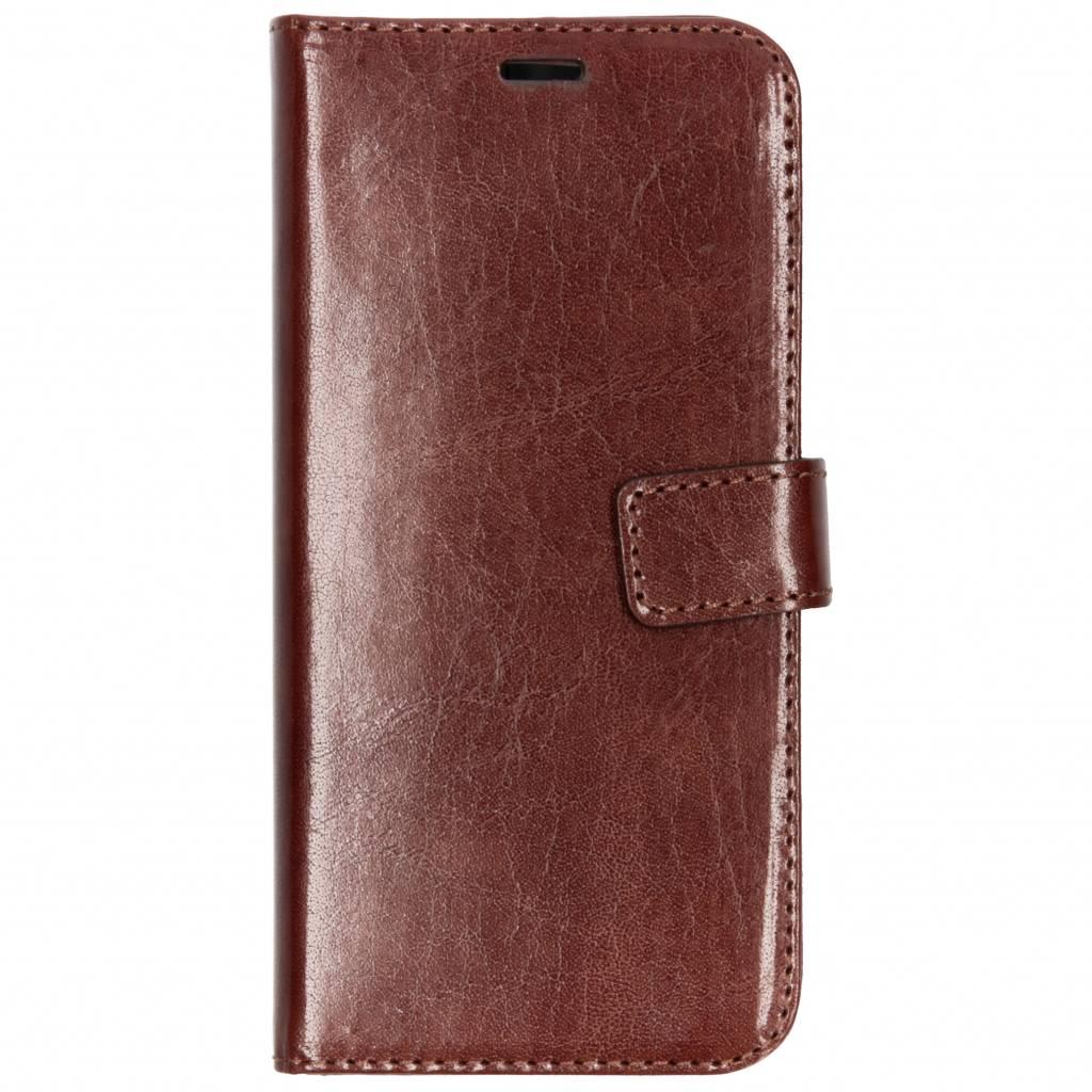 Valenta Bruine Booklet Leather voor de Samsung Galaxy A6 (2018)