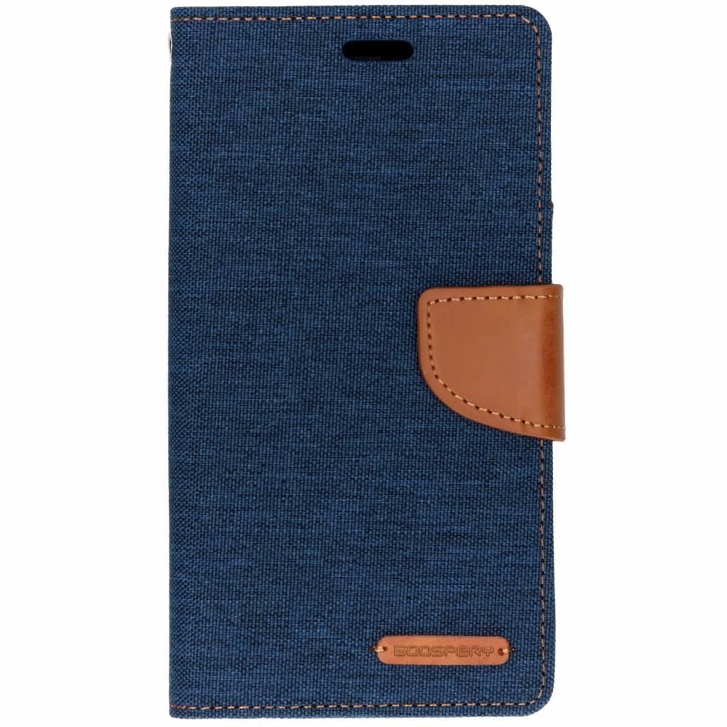 Mercury Goospery Blauwe Canvas Diary Case voor de iPhone Xr