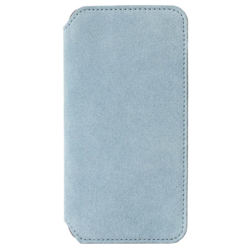 Krusell Blauwe Broby Slim Wallet voor de iPhone Xr