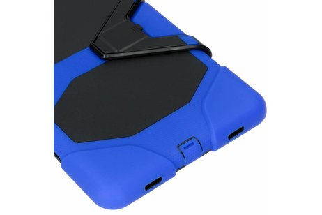 Extreme Protection Army Backcover voor Samsung Galaxy Tab A 10.5 (2018) - Blauw