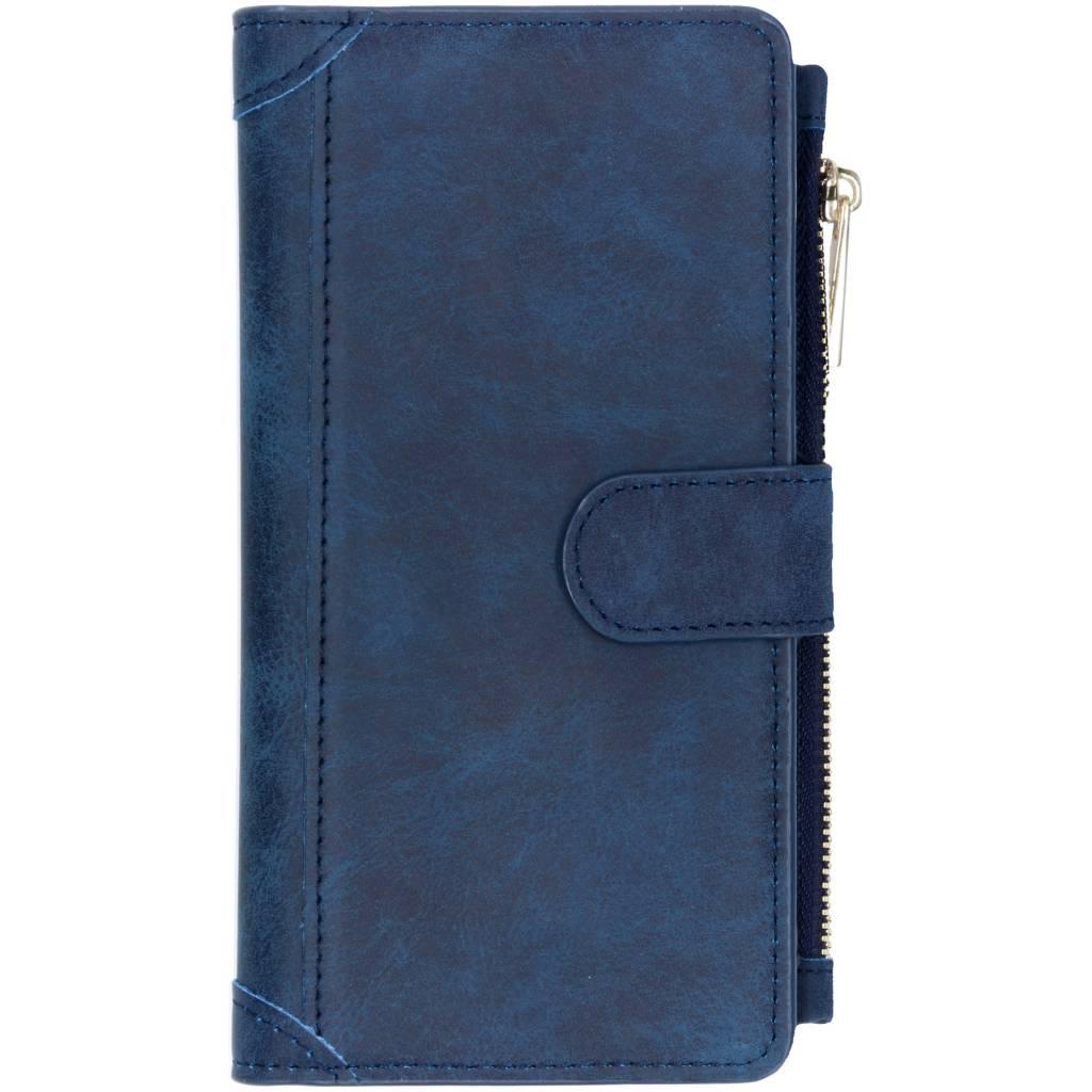 Blauwe luxe portemonnee hoes voor de Huawei P Smart Plus