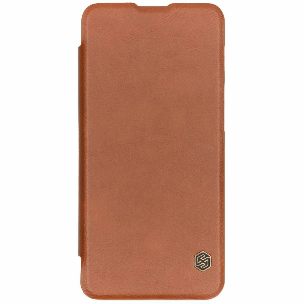 Nillkin Qin Leather Slim Booktype voor OnePlus 6T - Bruin