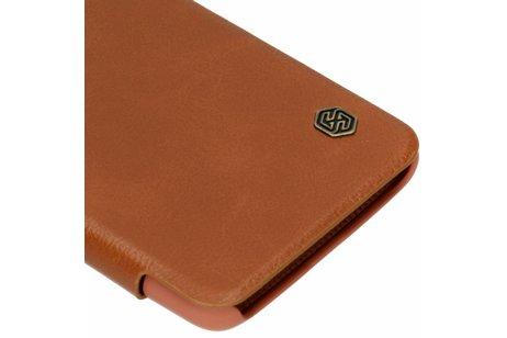 OnePlus 6T hoesje - Nillkin Qin Leather Slim