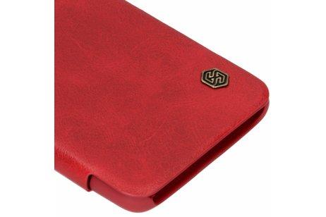 Nillkin Qin Leather Slim Booktype voor OnePlus 6T - Rood