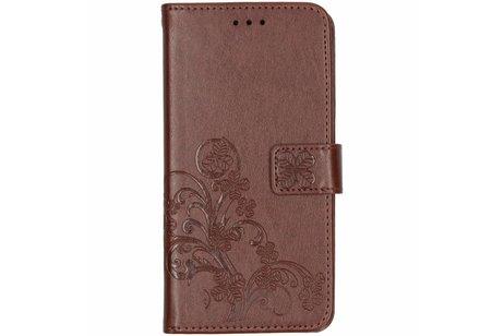 iPhone Xs Max hoesje - Klavertje Bloemen Booktype voor