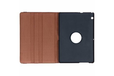 360° Draaibare Bookcase voor Huawei Mediapad T3 10 inch - Bruin