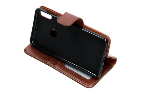 Basic Leather Booktype voor Asus ZenFone Max Pro - Bruin