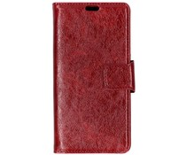 Rood split leather booktype Asus ZenFone Max Pro
