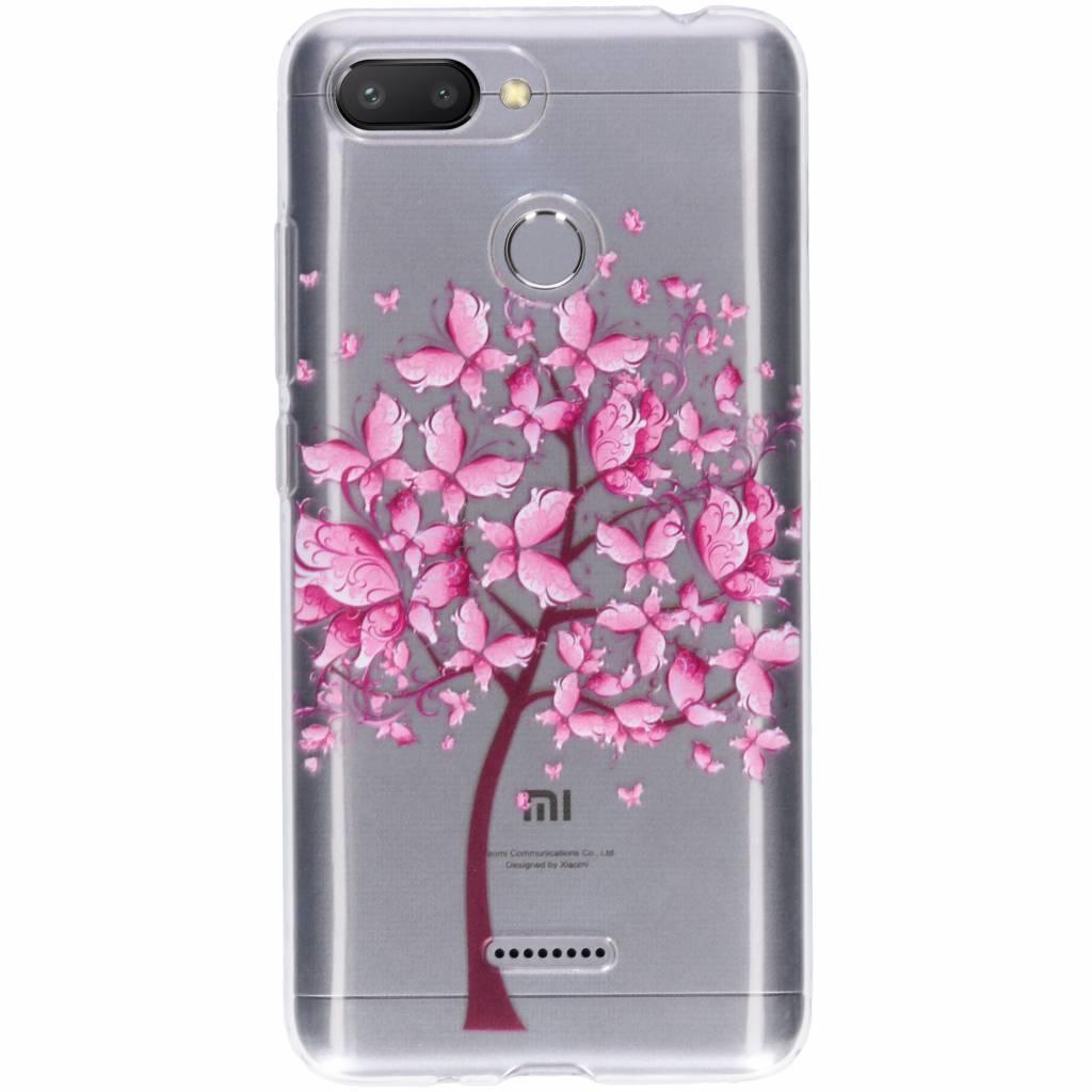 Tree design siliconen hoesje voor de Xiaomi Redmi 6