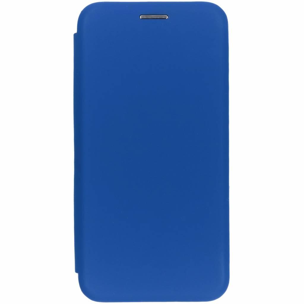 Blauwe slim folio color case voor de iPhone Xs / X