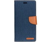Mercury Goospery Blauw Canvas Diary Case Samsung Galaxy A7 (2018)