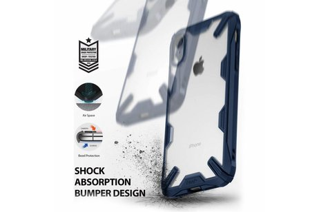 Ringke Fusion X Backcover voor iPhone Xr - Blauw