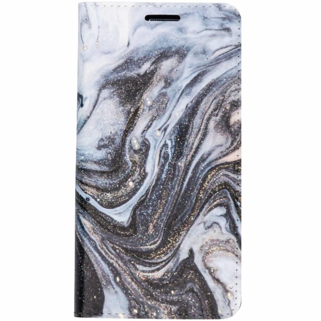 Zwart Lava Design Booklet voor de Samsung Galaxy A3