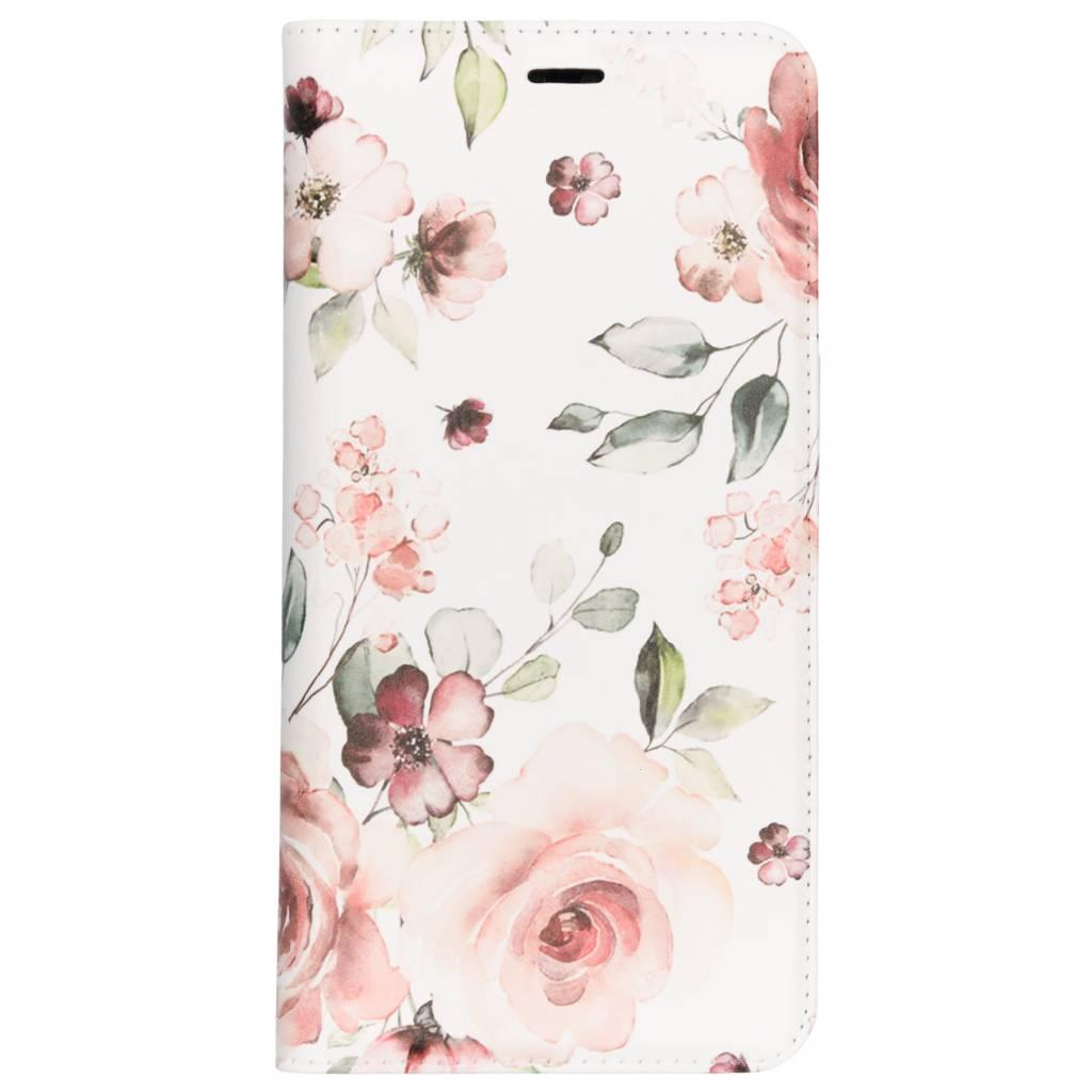 Design Softcase Booktype voor Huawei P20 Pro - Roze Bloemen
