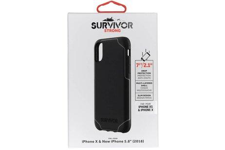 Griffin Survivor Strong Backcover voor iPhone X / Xs - Zwart
