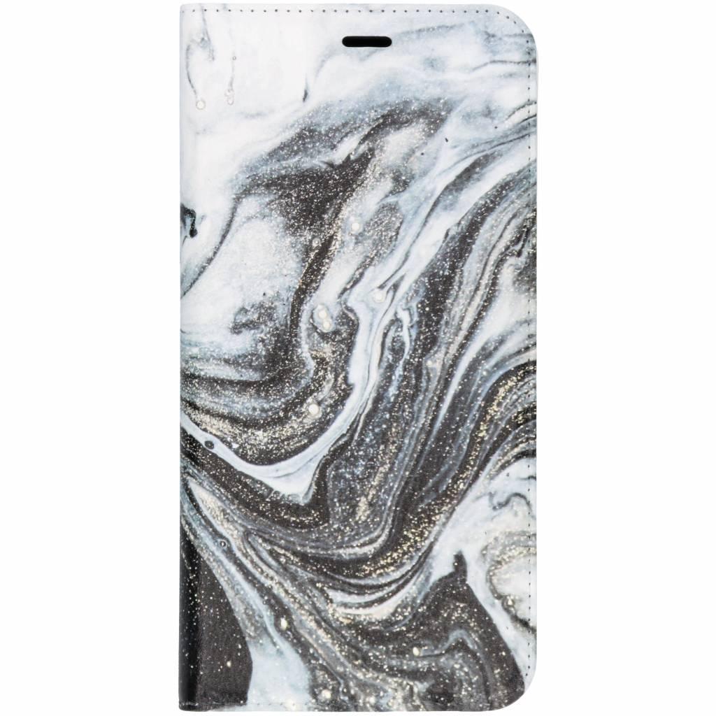 Zwart Lava Design TPU Bookcase voor de Samsung Galaxy J6 Plus