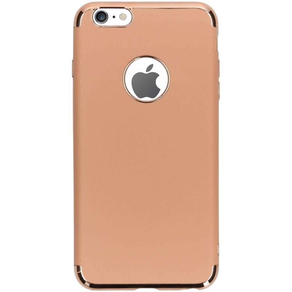 Brons luxe lederen siliconen case voor de iPhone 6(s) Plus