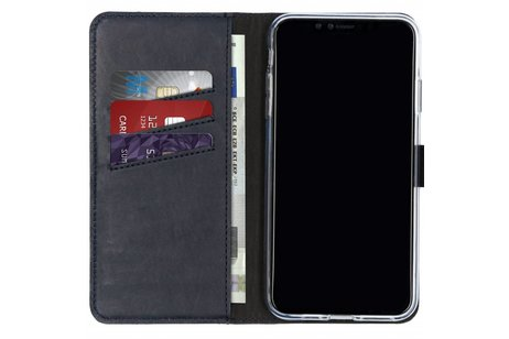 iPhone Xs Max hoesje - Selencia Echt Lederen Booktype