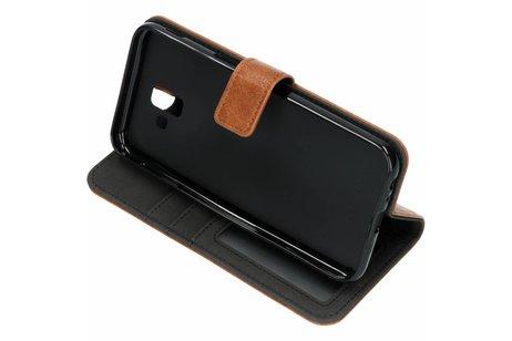 Samsung Galaxy J6 Plus hoesje - Luxe Lederen Booktype voor