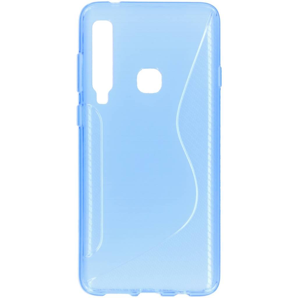 Blauw s-line TPU hoesje voor de Samsung Galaxy A9 (2018)