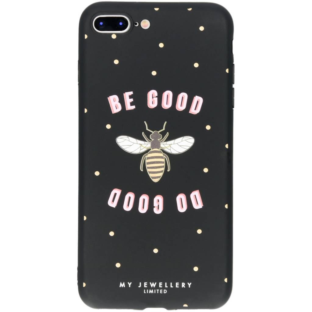 My Jewellery Design Backcover voor iPhone 8 Plus / 7 Plus - Be Good Do Good Zwart