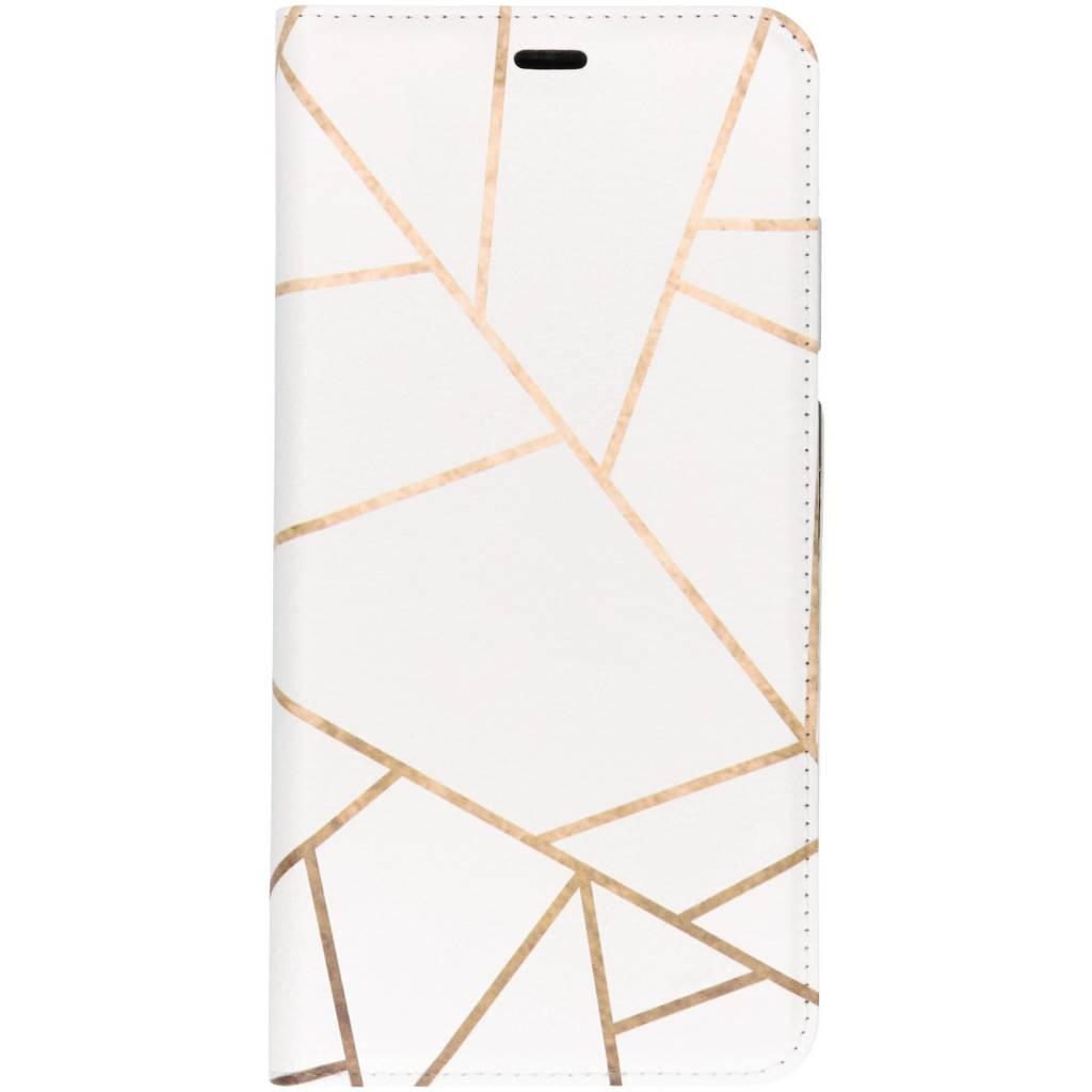 Wit Grafisch Design TPU Bookcase voor de Samsung Galaxy A9 (2018)