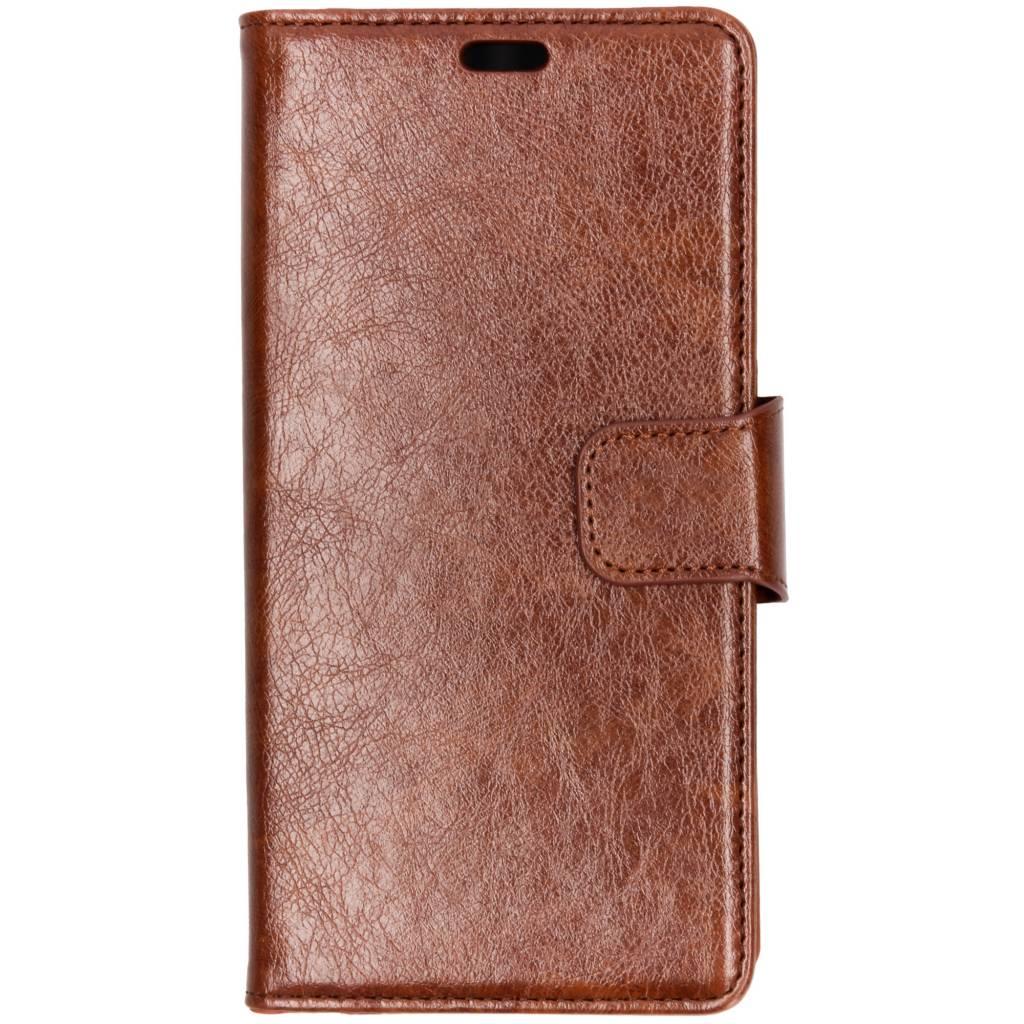 Bruine split leather booktype voor de Samsung Galaxy A9 (2018)